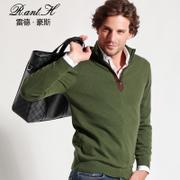 雷德豪斯秋冬男士半高领羊绒衫毛衣羊绒衫针织衫套头打底纯山羊绒