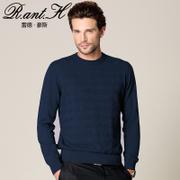 雷德豪斯羊绒衫男款纯羊绒纯山羊绒男圆领男士针织衫套头男士毛衣