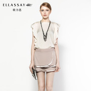 ELLASSAY歌力思春款连衣裙熟女修身针织裙印花中长款包臀收腰